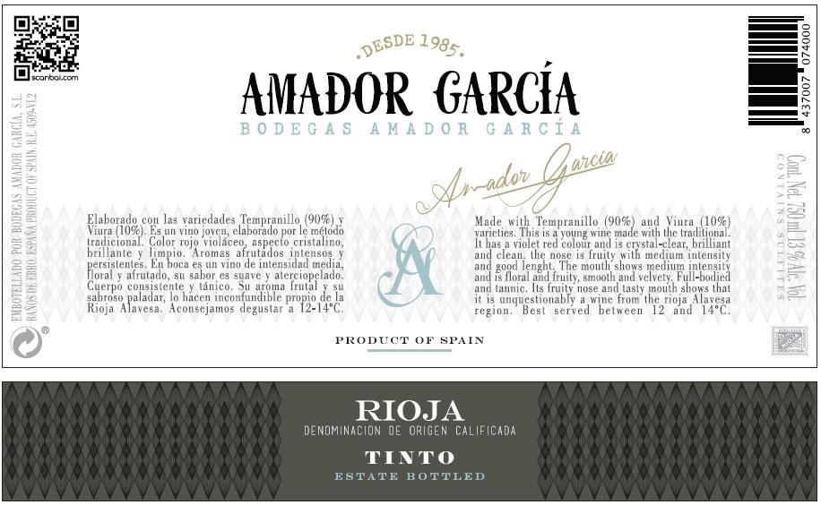 Amador Garcia Joven Tinto