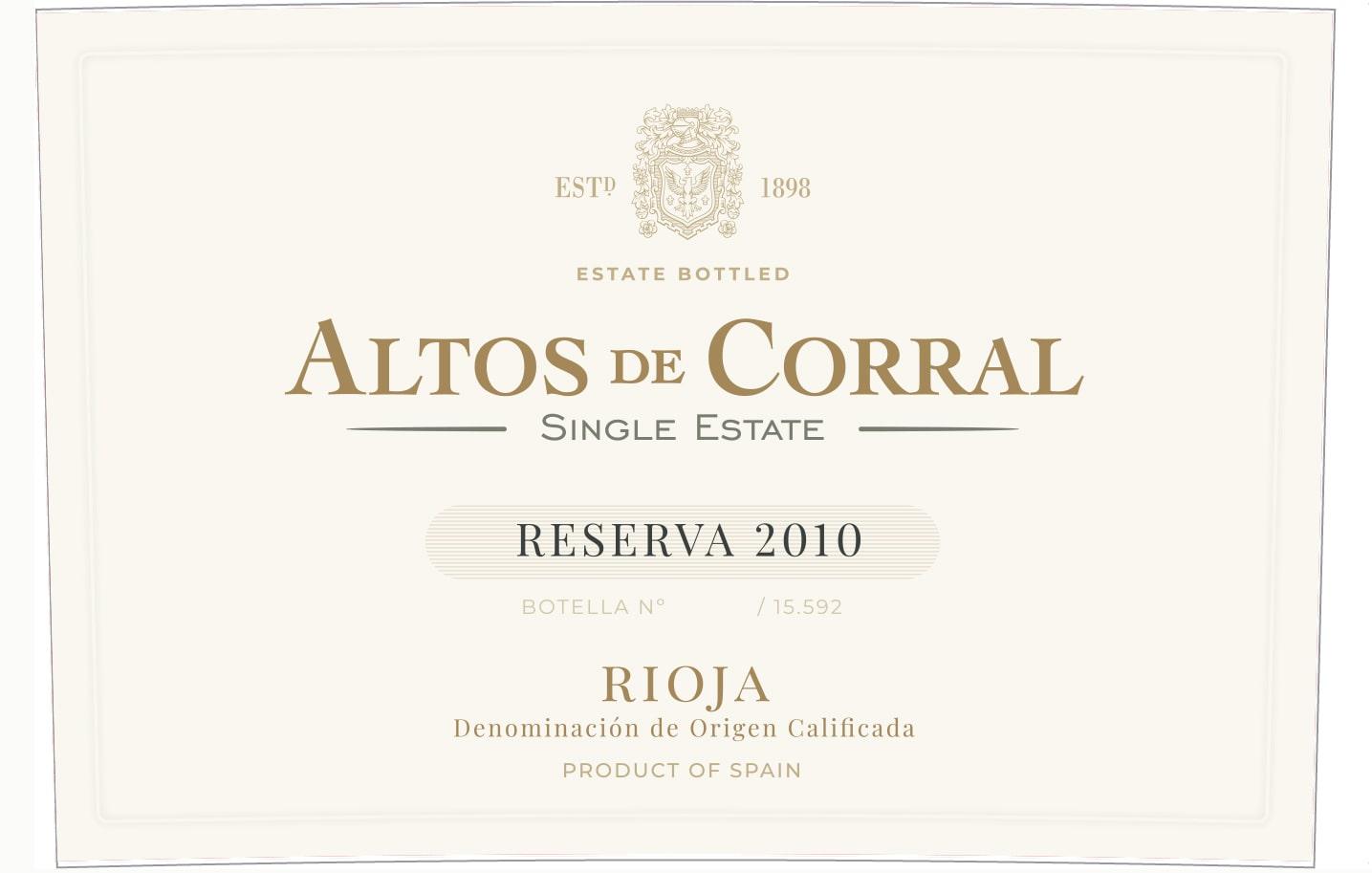 Altos De Corral Single Estate Reserva
