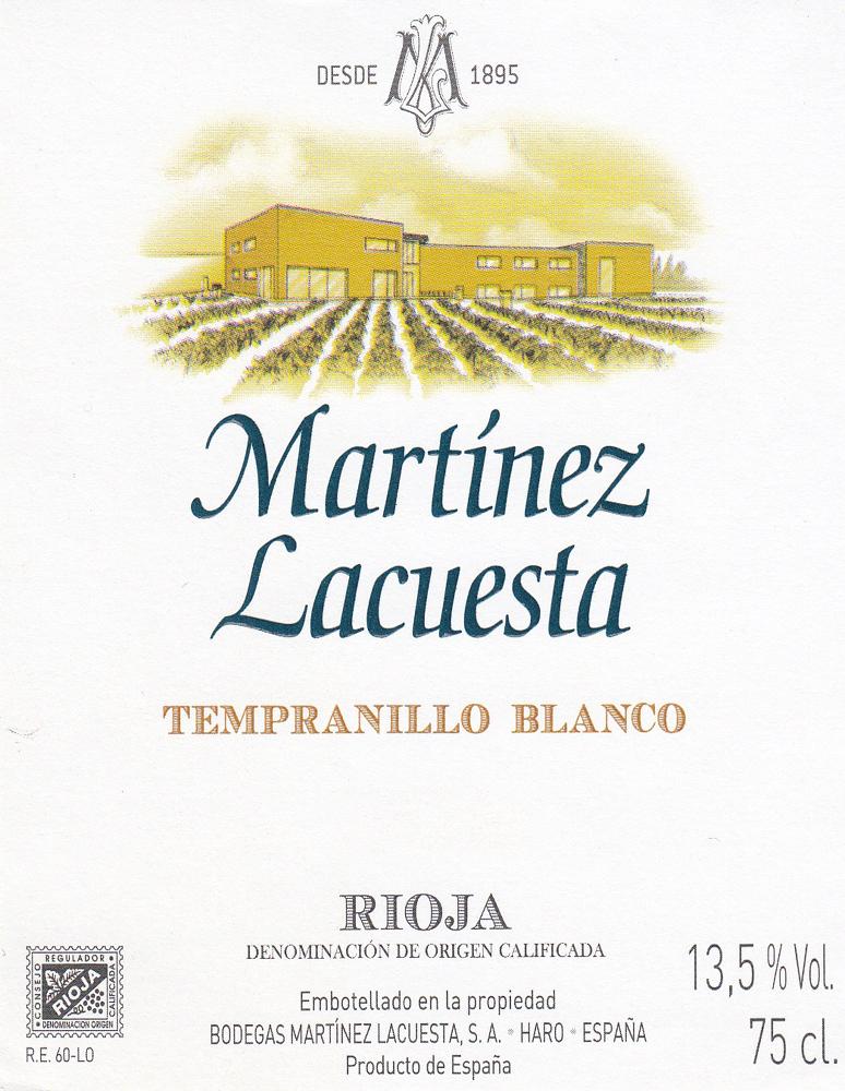 Tempranillo Blanco Martínez Lacuesta