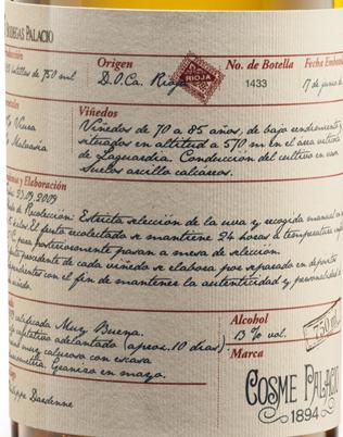 Cosme Palacio 1894 Blanco
