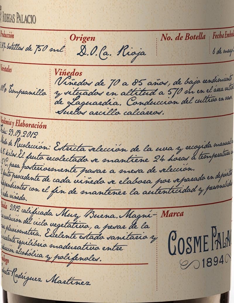 Cosme Palacio 1894 Tinto