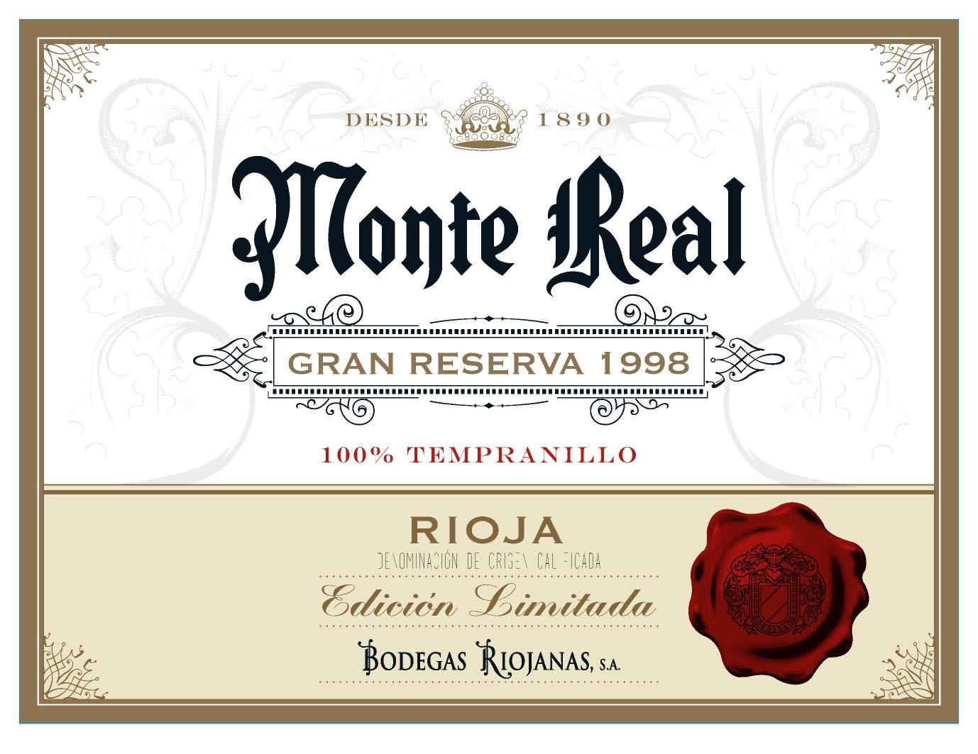Monte Real Gran Reserva 1998 Edición Limitada