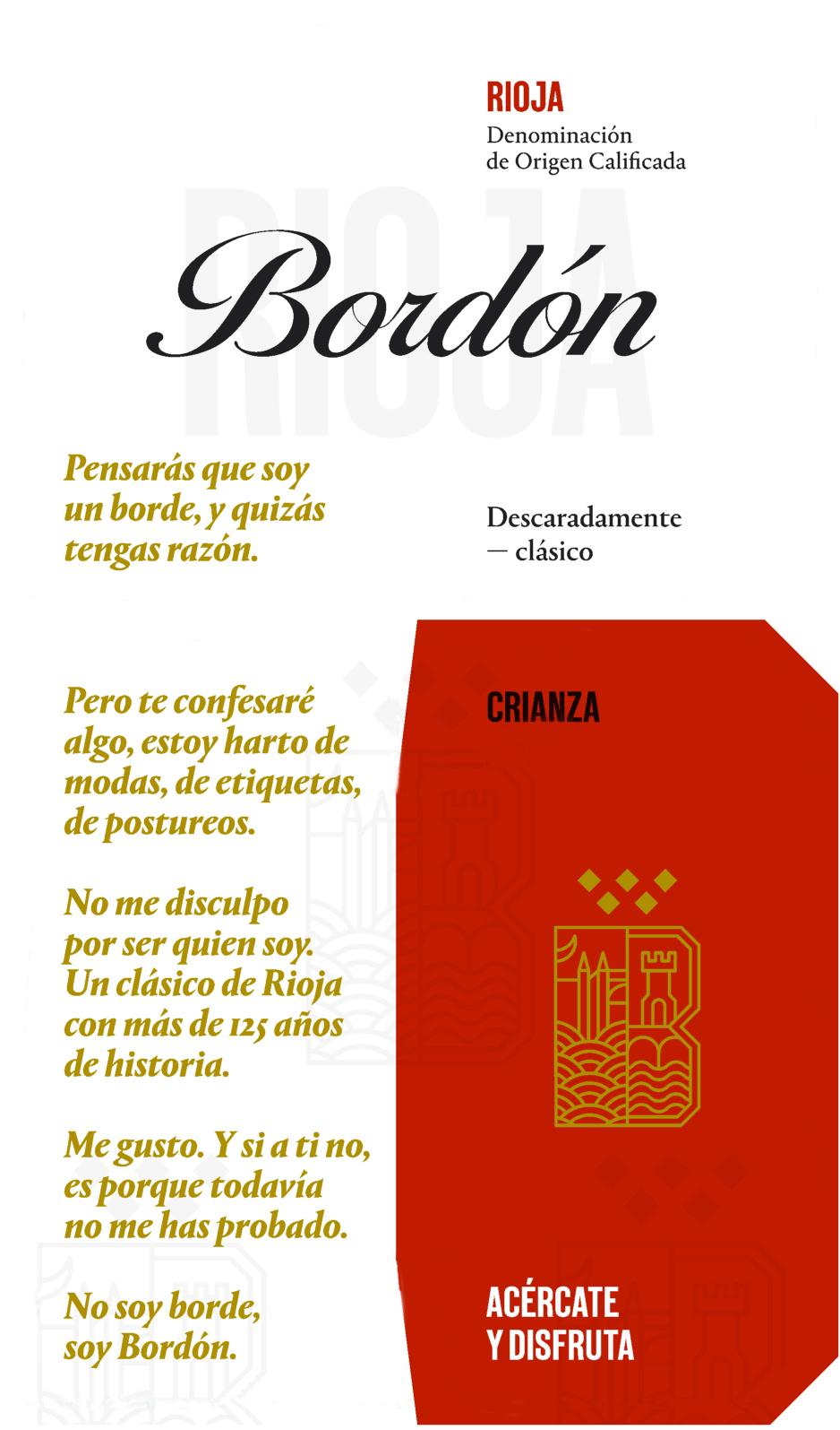 Rioja Bordón Crianza