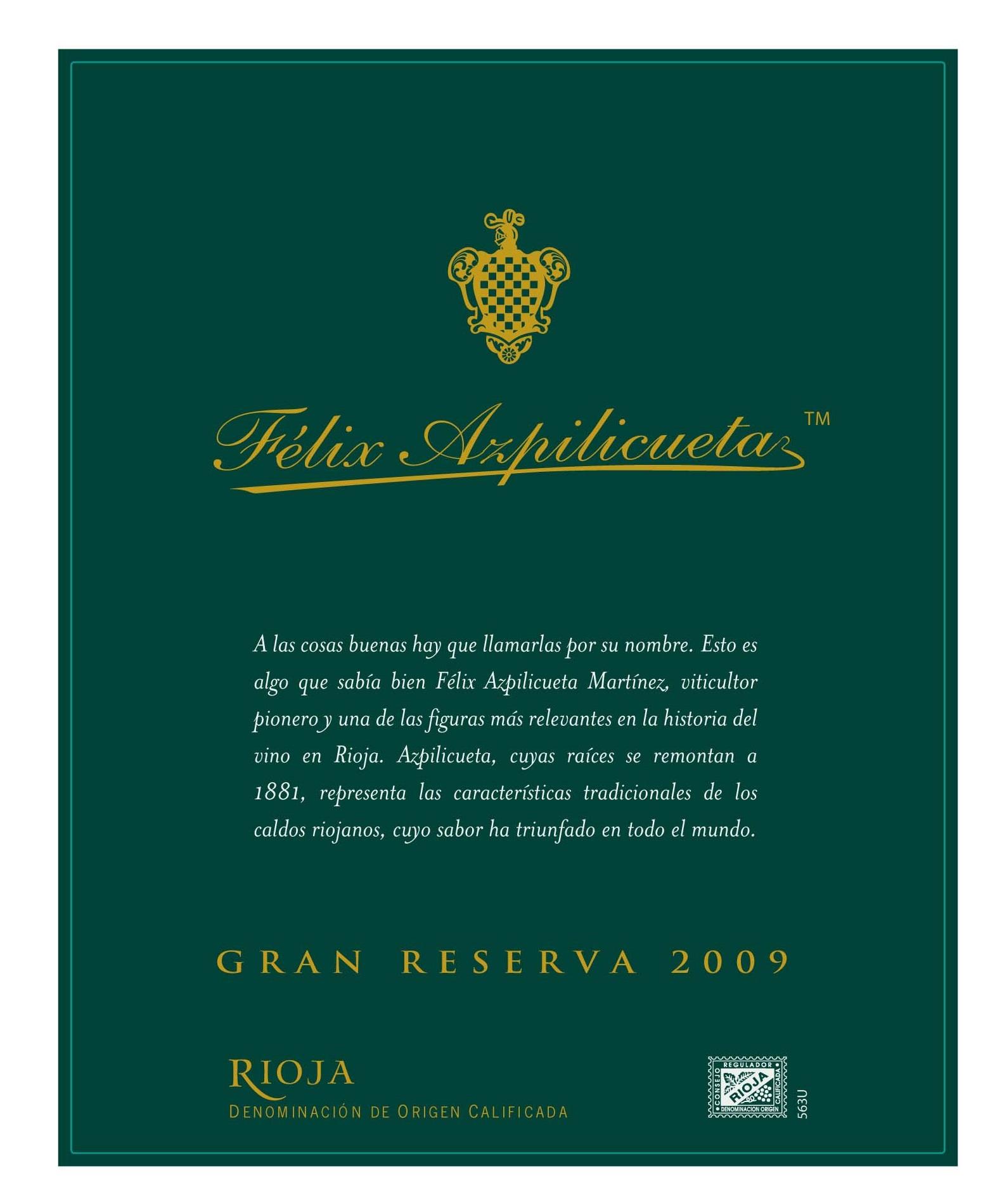 Félix Azpilicueta Gran Reserva
