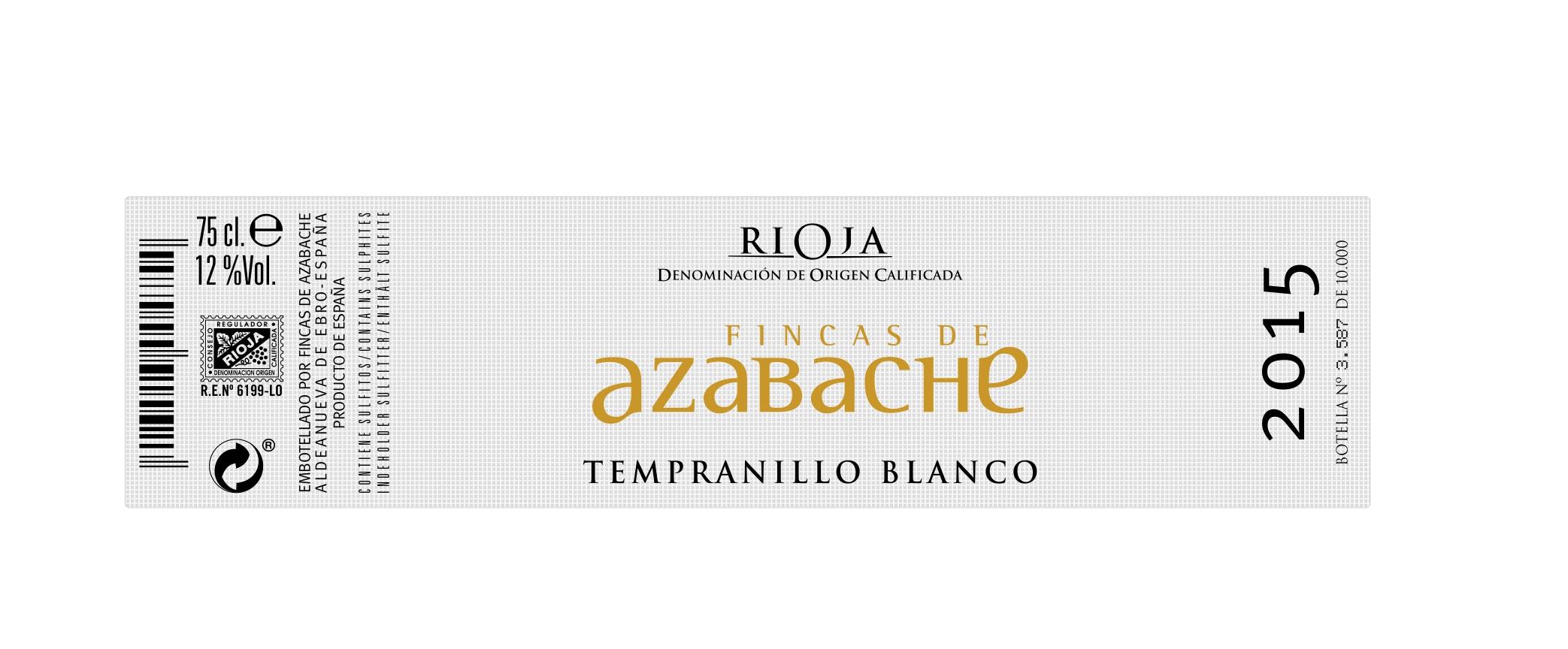 Fincas De Azabache Tempranillo Blanco