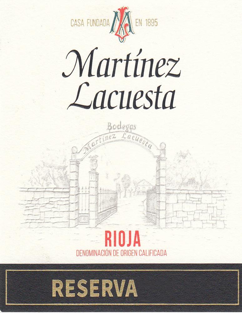 Reserva Martínez Lacuesta