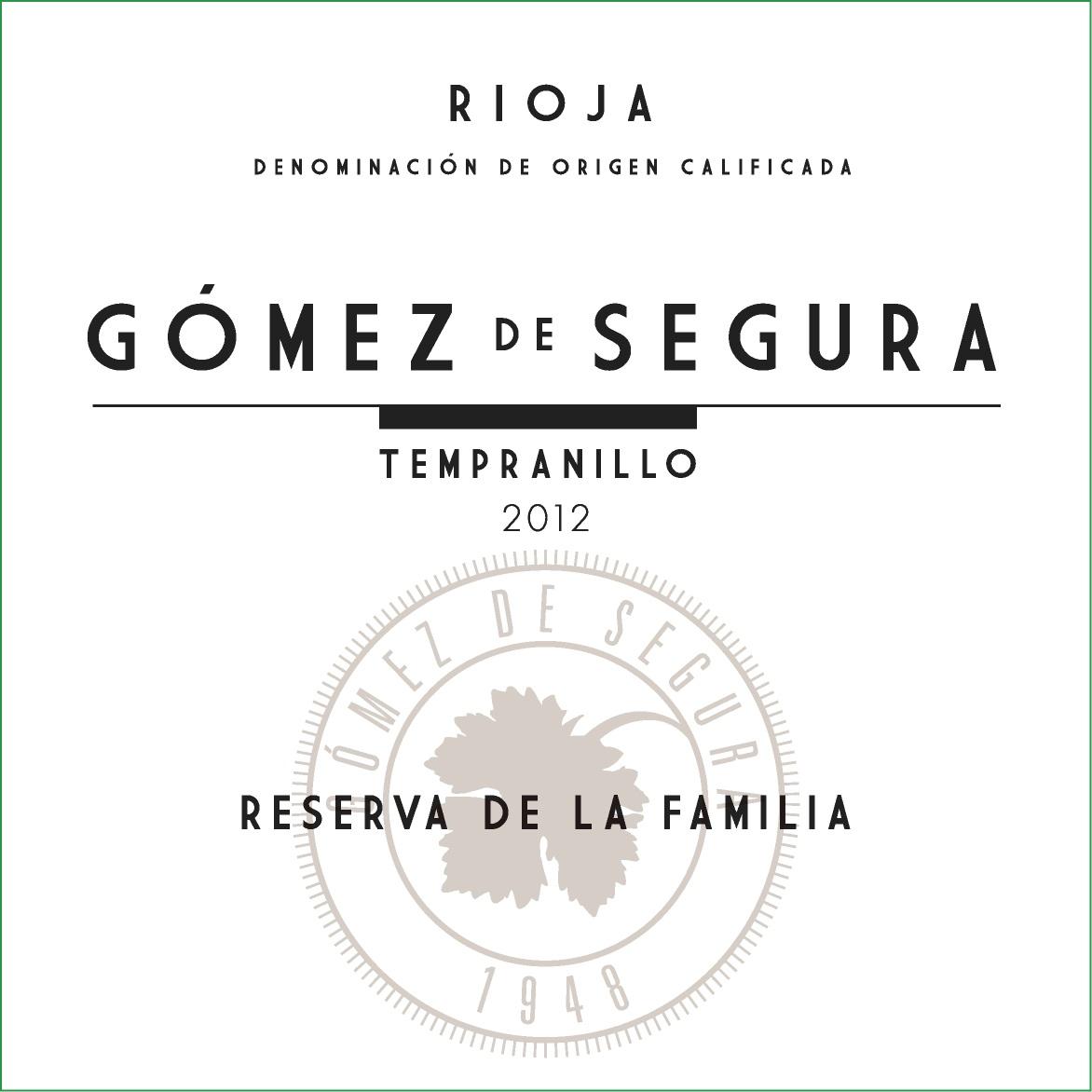 Tinto Reserva Gómez De Segura