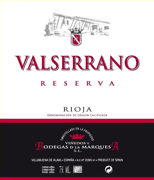 Valserrano Reserva 2016