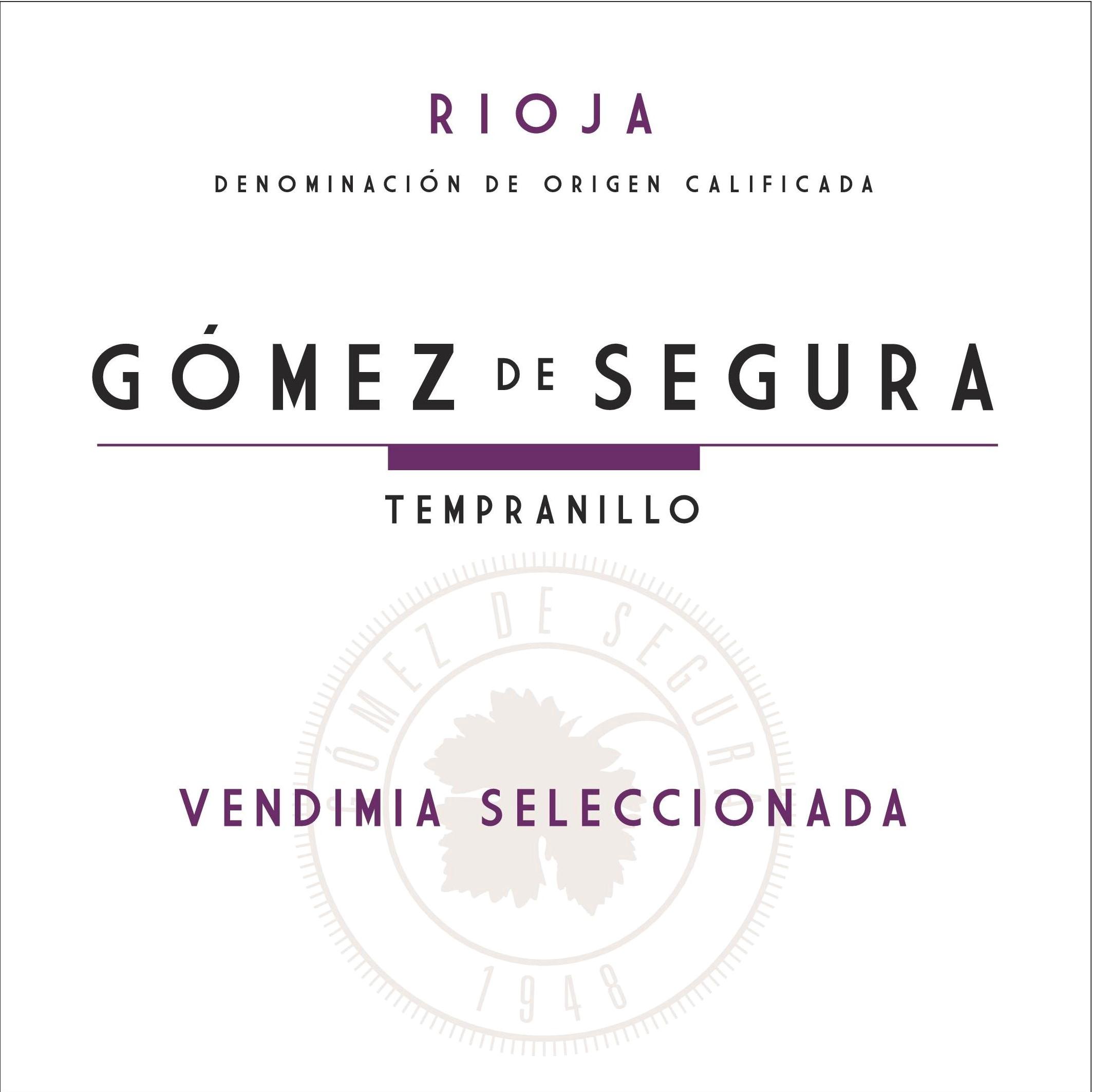 Tinto Vendimia Seleccionada Gómez De Segura