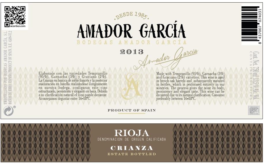 Amador Garcia Crianza