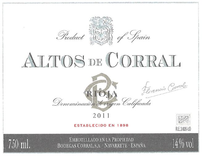 Altos De Corral Barrel Fermented Tinto
