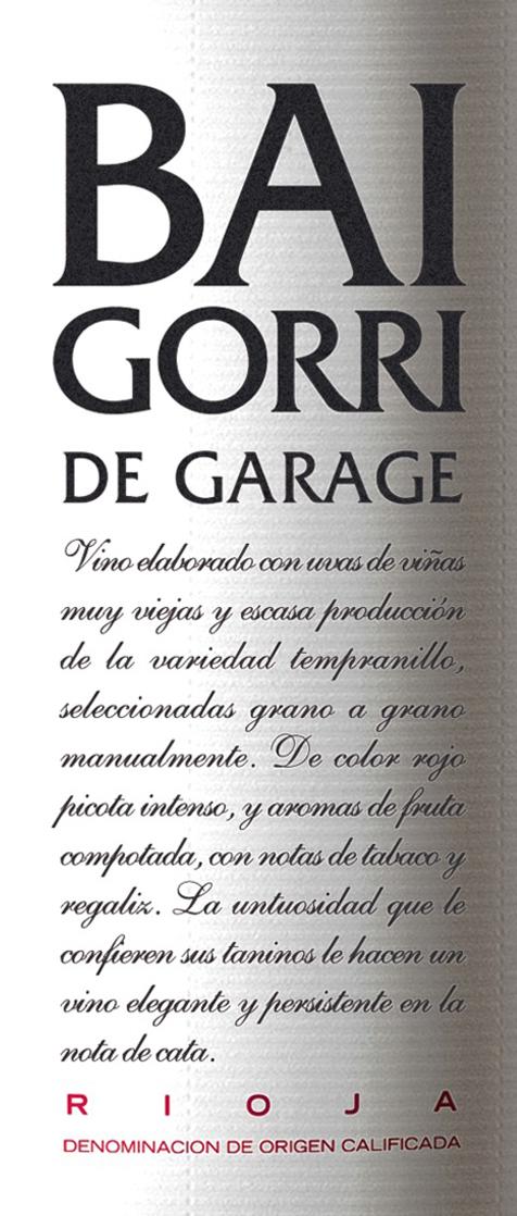 Baigorri De Garage