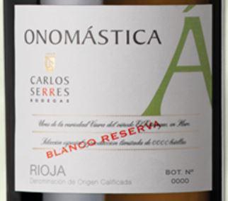 Carlos Serres Onomástica Blanco Reserva