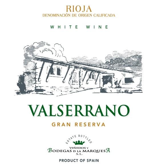 Valserrano Blanco Gran Reserva 2015